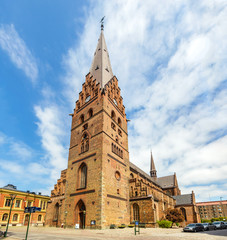 View of St Petri Cathedral in Malmo, Sweden