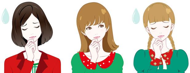 女性 ファッション クリスマスカラー 考える