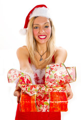 Beautiful Girl with Christmas gift