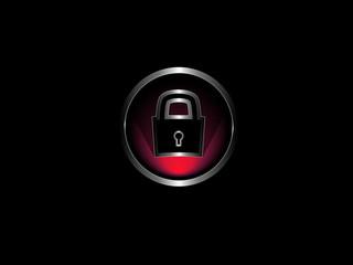 Red & silver icon: Closed locker
