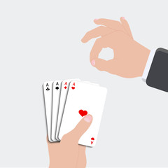 Vector ace playing card set