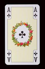 Spielkarten der Ladys - Kreuz Ass