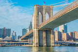 Brooklyn bridge in New York on bright summer day - 73330266
