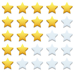 Vector modern stars icon set on white
