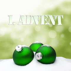 1. Advent - gifts - green - Snow