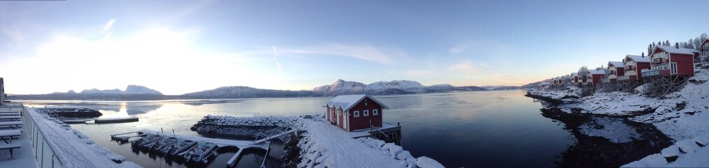 malangen bay, tromso, norway