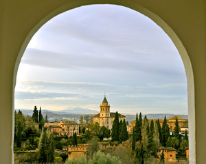 View of Alhambra fortress in Granada, Spain