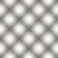 Circle gradient grey pattern background. Vector