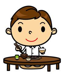 SD男性 食事 和食