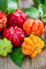 Tropical fruit also called Pitanga, Brazilian Cherry, Suriname C