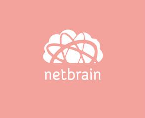 Abstract cloud storage vector logo icon concept. Logotype