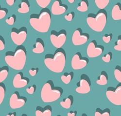heart pattern fashion textiles