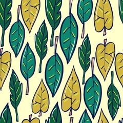 leaves pattern fashionable textiles
