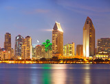 City of San Diego California, colorful   sunset panorama - 73332623