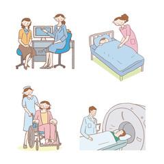 医療 イラスト 入院