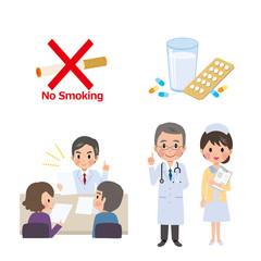病院 イラスト 薬 タバコ