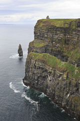 Cliffs of Moher and Atlantic Ocean.