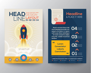 Brochure Flyer design Layout template with start up business