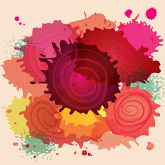 abstract paint splat colorful vector background