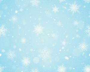 Snowflakes seamless background - Blue