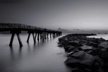 Fishing Pier Monochrome