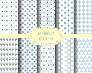 10 blue geometric patterns
