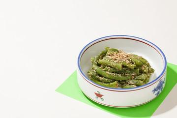 日本のお惣菜・三度豆の胡麻和え