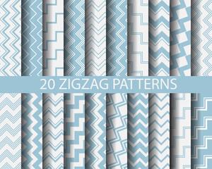 20 blue zigzag patterns