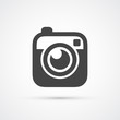 Trendy flat Hipster camera photo icon - 73335494
