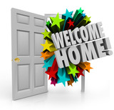 Welcome Home 3d Stars Open Door Greeting Homecoming poster