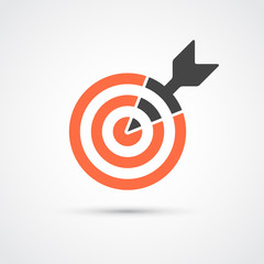 Target icon for business or sport