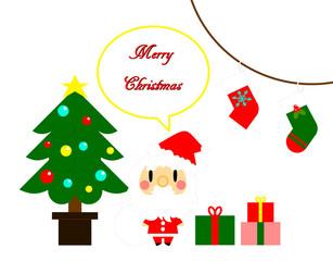 クリスマス サンタとツリー