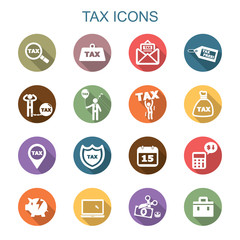 tax long shadow icons