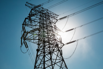 electricity pylon closeup