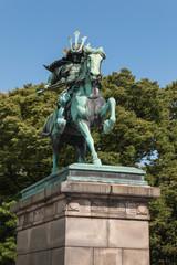 statue of samurai in Tokyo
