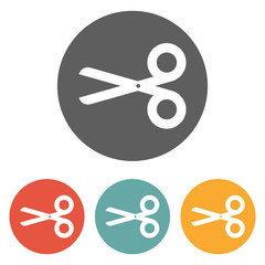 scissors and dash line icon