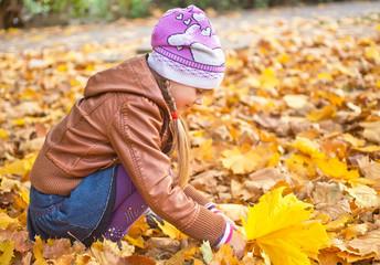 little girl in park