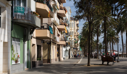 Pavement embankment in  Badalona