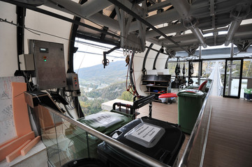 Skypark, Sochi, Russia - 31 OCTOBER: panoramic views of the gorg