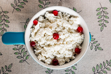 Tasty cottage cheese