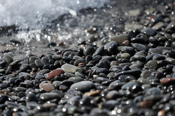 abstract background - pebbles on the ocean