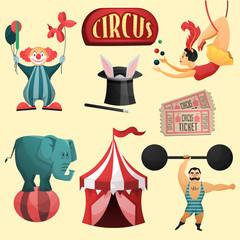 Circus decorative set