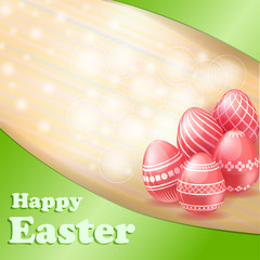 Easter red eggs card