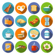 Breakfast icon flat - 73339404