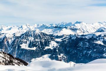 Alps mountain landscape. Winter landscape