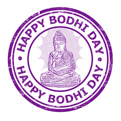 Happy Bhodi day stamp