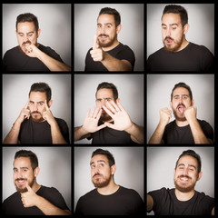 Expresive man