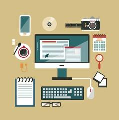 desktop photographer illustration