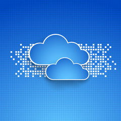 abstract technology cloud theme backgrounds. Vector illustration