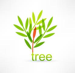 Tree icon. Logo design.